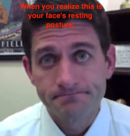 Paul Ryan sad eyebrows