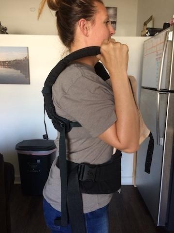 ergo baby holding straps to decrease neck pain