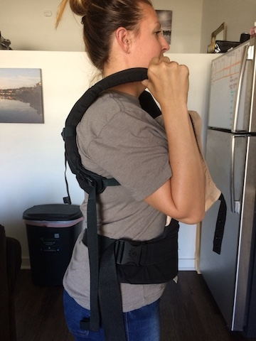 ergo baby holding straps to decrease neck pain