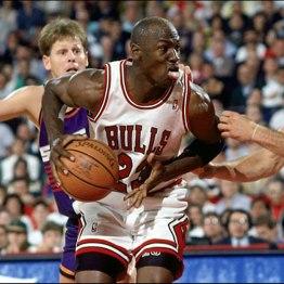 Michael Jordan face à Dan Majerle (c) nba.com