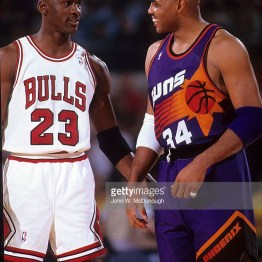 Jordan vs Barkley lors du Game 5 en 1993 (c) Getty