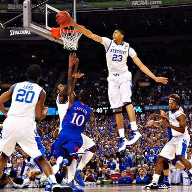 Anthony Davis - Kentucky vs Kansas NCAA Final 2012 (c) Richard Mackson - US Presswire
