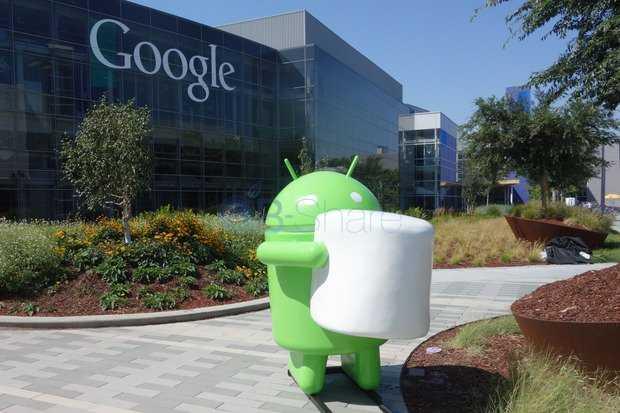 על מדשאות חברת גוגל נראה הסמל הבא