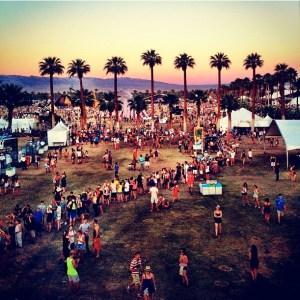 Coachella louging people