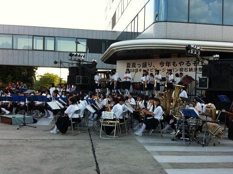 『キャタピラー納涼祭り2012』スタンバってる中学生