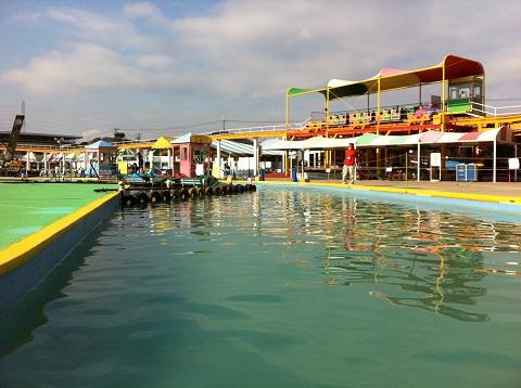 手柄山遊園地 ペダルボートから観た風景 (3)