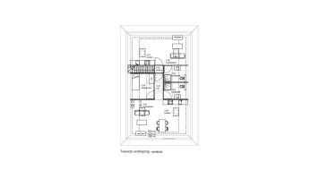 plattegrond tweede verdieping (gewijzigde situatie)