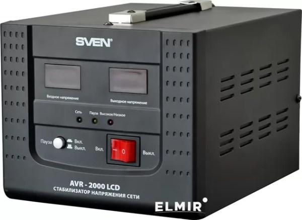 Стабилизатор напряжения Sven AVR-2000 LCD купить | ELMIR ...
