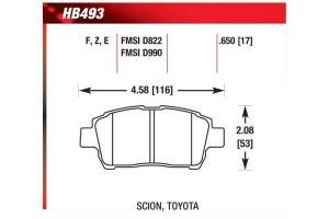Hawk HB493Z650  Hawk Performance Ceramic Brake Pads