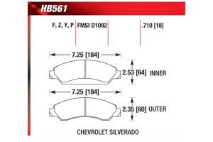 Hawk HB561Z710  Hawk Performance Ceramic Brake Pads