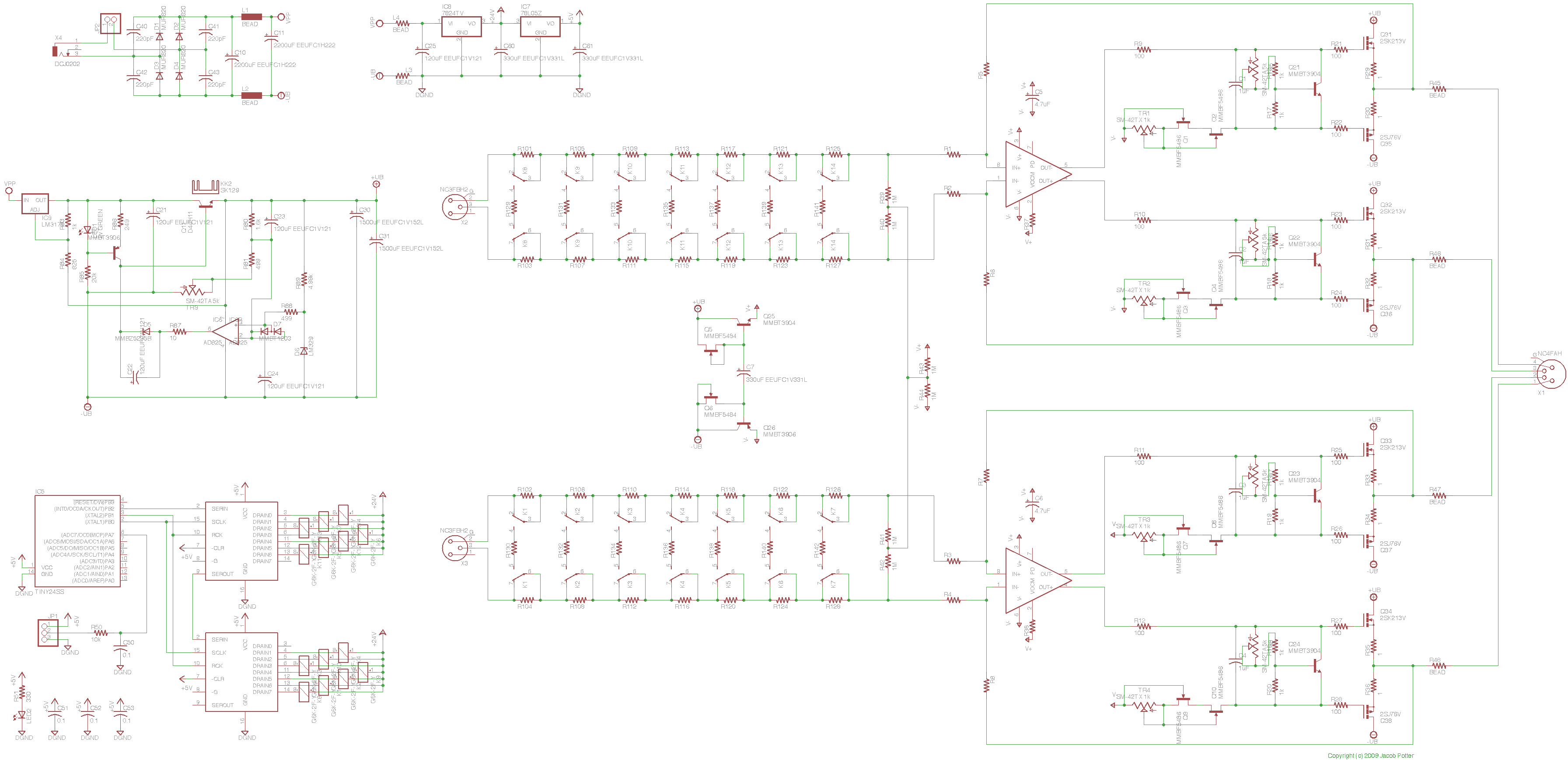 Baxandall Type Tone Control For Diff Amp