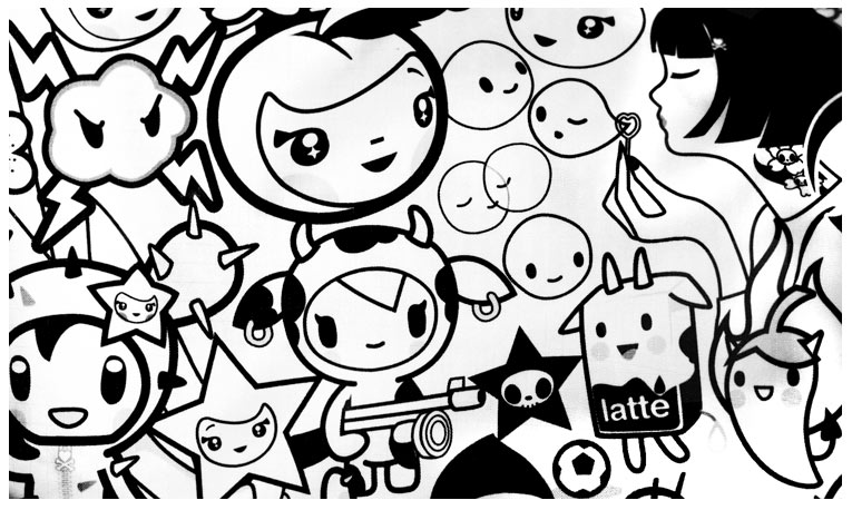 tokidoki coloring pages free  food ideas