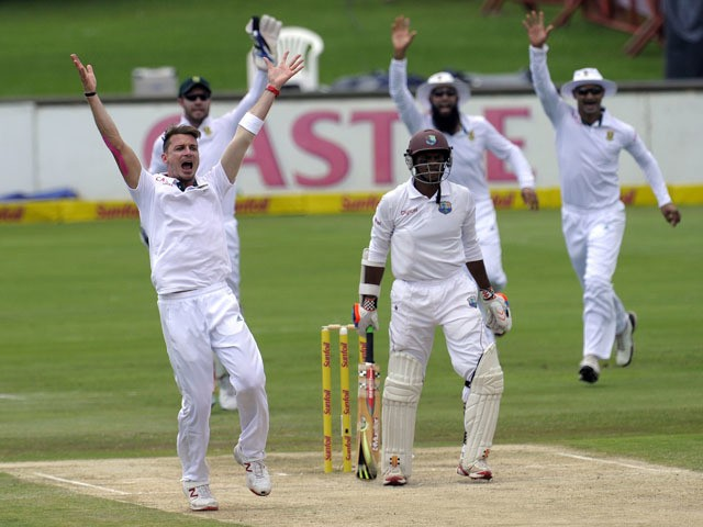 photo of south african cricket side against west indies