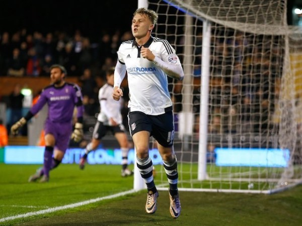 Little Cauley Woodrow celebrates scoring a second for ...