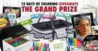 Enter 12 Days of Coloring Giveaways 2018 to win the Grand prize that is valued at over $300! {WW} See Rules for exceptions (12/12/2018)