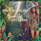 Win 1 of 5 x $1,000 CAMILLA Clothing Gift Cards {??} (12/15/2019)