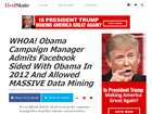 WHOA! Obama Campaign Manager Admits Facebook Sided with Obama in 2012 and Allowed MASSIVE Data Mining