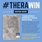 Win a Therapedic Memory Foam Bath Rug in your choice of color {US} (09/20/2017)