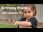Water Balloon Birthday Cake Prank on four year old