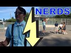 Nerds play basketball in the hood!