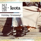 win a coupon code to be used on leota.com in the amount of $148.00, and choice of a pair of shoes (retail price up to $200.00) from miz-mooz.com, {??} ends 12/22