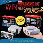 AlertBot NES Classic and SNES Classic Giveaway TWO! (01/14/2019) {US}