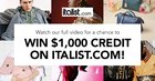 Win A $1,000 Credit on ITALIST.Com (9/30/18){US}