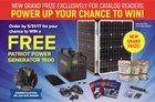 Win A FREE Patriot Power Generator 1500 worth $3997 {ww} (5/31/17)