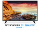 "Enter for your chance to win a 55"" Smart TV (05/31/16)"
