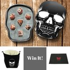 Win This Rose Gold Dice Set, Skull Dice Bag & Dice Rolling Mat (05/25/2017) {??}