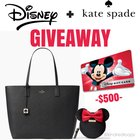 Win a $500 Disney Gift Card and Kate Spade Bag {WW} (6/12/2017)