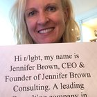 Hello, my name is Jennifer Brown, AMA!