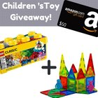 Win a $50 Amazon Gift Card, 400 Lego's and Magnesia Tiles Children's Toy {US} (12/10/2018)