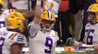 LSU QB Joe Burrow throws his NCAA record 60th touchdown pass in the National Championship Game