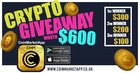 Enter to win 1 of 3 prizes of cryptocurrency worth up to $300 dollars {??} (11/11/2018)