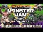 Monster Jam Triple Threat Series in Orlando Aug 2018 - Full Show