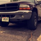 2001 dodge Dakota SLT 4.7L just Plasti dipped the grill