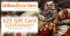 Win a $25 gift card for UnboxBoardom board game subscription service (09/05/2017) {US}