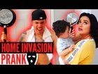 Home invasion prank on girlfriend