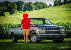 Recently got my senior pictures taken and got one taken with my beautiful 89 Chevy