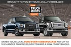 Ford Event Sweepstakes ~ Win a $30,000 voucher for a Ford vehicle or a $500 check {US} (01/04/19)