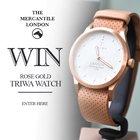 WIN a fabulous Rose Gold Triwa Watch from Mercantile London