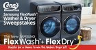 Win a Samsung FlexWash Washer and Dryer {US} (07/31/2017) (AL, AZ, CO, GA, LA, MS, NV, NM, NC, OK, SC, TN, TX, VA only)