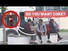 Selling coke in public :D