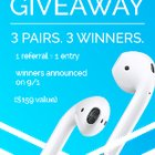 3 Winners, 3 Pairs of Apple Earpods (09/01/2017) {WW}