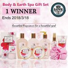 Share & Win Body & Earth Spa Gift Set We Love Giveaways #bodyearth #Giveaway{US}(Ends 2018/3/18)
