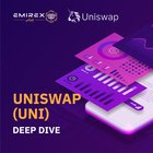 Explanation of Uniswap (UNI), Ethereum-based decentralized exchange allowing to swap any ERC-20 tokens and passively earn interest on placing crypto into liquidity pools