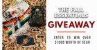 Win over $1000 worth of Fall Essentials gear! {??} (11/15/18)
