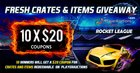 10x $20 Rocket League Coupons usable at PlayerAuctions (11/27/18) {WW}