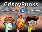 CrispyPunks just dropped! 500 crispy, collectible, byte sized NFT punks that are deep fried to perfection. 10% of all collection revenue and royalties goes toward The Children's Heart Foundation. All social links are in the comments!